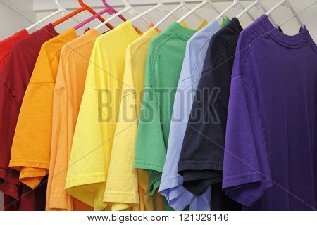Ten Different Colors of T-Shirts