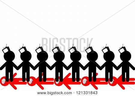 TV Zombiing of people. Influence of promotion of mass media on the identity of the person.