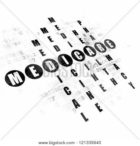 Medicine concept: Medicare in Crossword Puzzle
