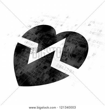 Health concept: Heart on Digital background