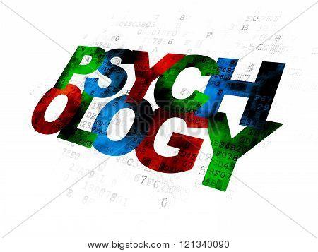 Healthcare concept: Psychology on Digital background