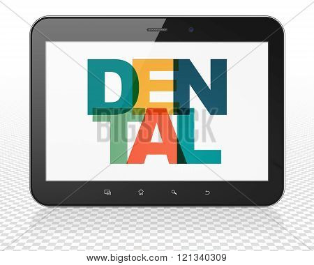 Health concept: Tablet Pc Computer with Dental on  display