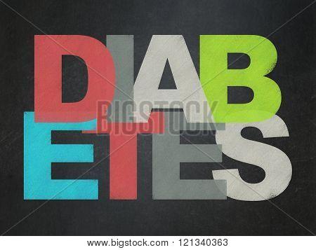 Health concept: Diabetes on School Board background
