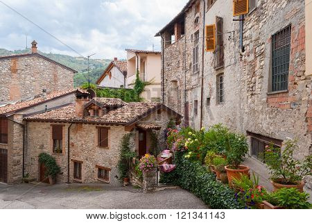 Glimpse Of A Typical Medieval Village In Italy (bobbio, Emilia Romagna)