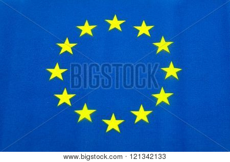 European Union blue background and yellow stars flag