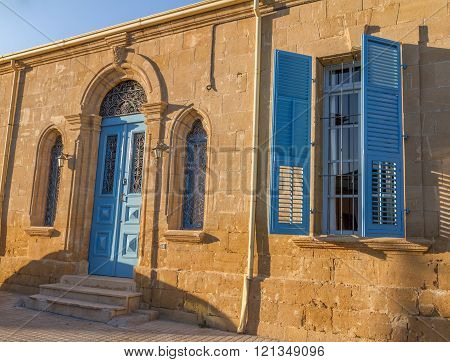 Nicosia, Cyprus - 26 February, 2016:  Beautiful classic residential building in the Old City of Nicosia in the Chrysaliniotissa area within the Venetian Walls