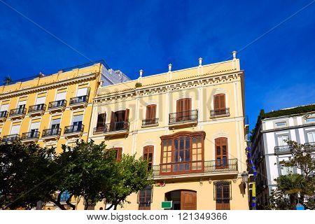 Valencia Plaza de la Virgen square buildings in Spain
