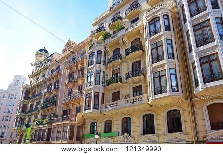 Valencia city downtown Castello street castellon of Spain