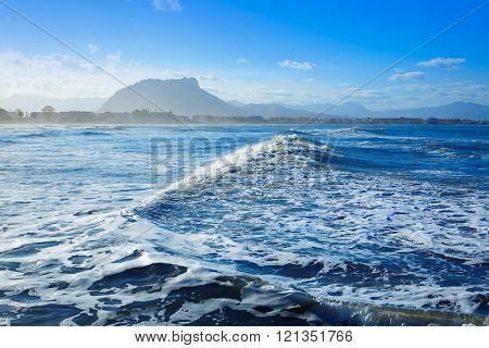 Denia beach Las Marinas in Mediterranean Alicante of Spain