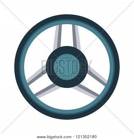 Car rudder wheel
