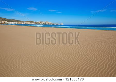Cullera Sant Antoni beach San Antonio in Valencia of Spain