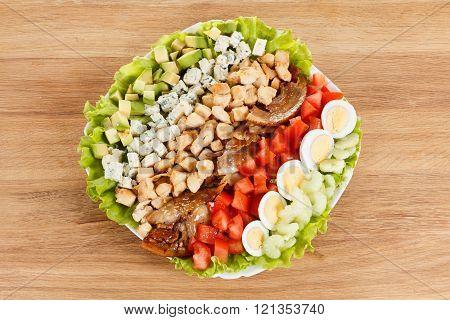 Traditional American Cobb Salad