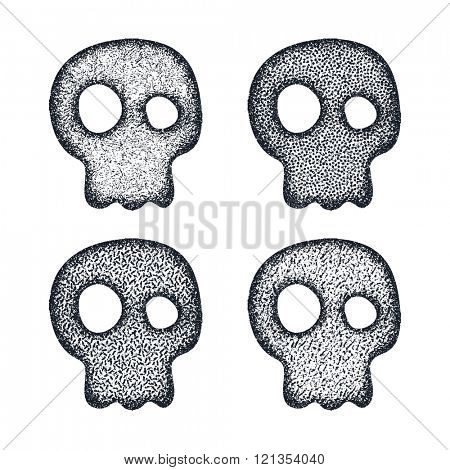 Ornament skull set. Vector illustration
