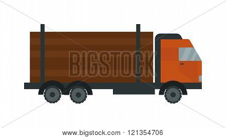Timber truck vector illustration.