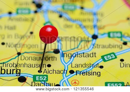 Aichach pinned on a map of Germany