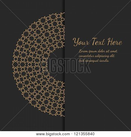 Elegant Design. Golden Mandala.