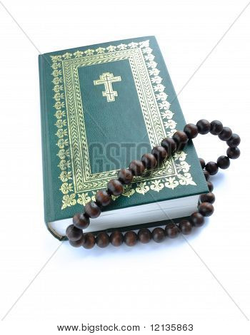 Bible And Rosary Beads