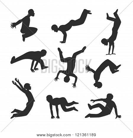Parkour people vector illustration