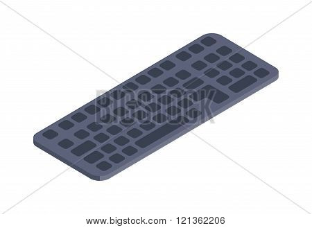 Computer keyboard vector isometric flat icon.