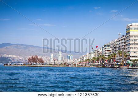Izmir. Coastal Cityscape With Modern Buildings