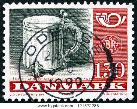 Postage Stamp Denmark 1980 Silver Tankard, By Borchardt Rollufse