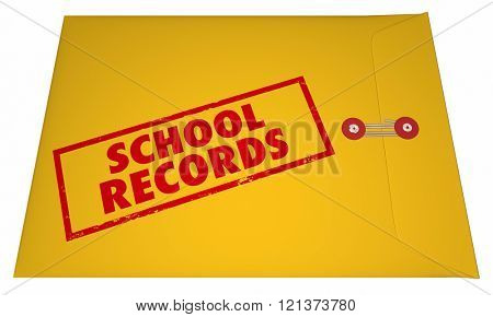 School Records Student File Transcripts Grades College Education 3D