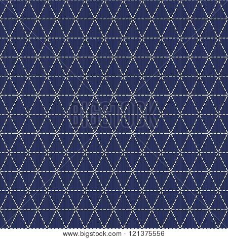 Weaving. Japanese sashiko motif. Seamless pattern.