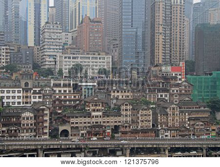 Hongyadong is the most famous scenic spot in Chongqing