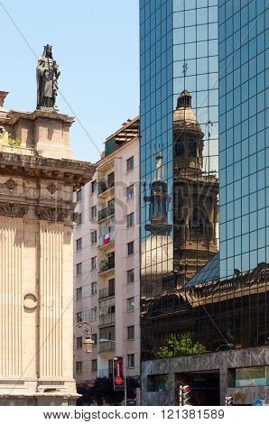 Santiago Iglesia Cathedral Reflection