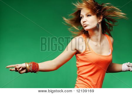 Teenage girl dancing studio series poster