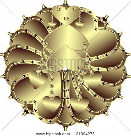 Creative Gold Vector Illustration