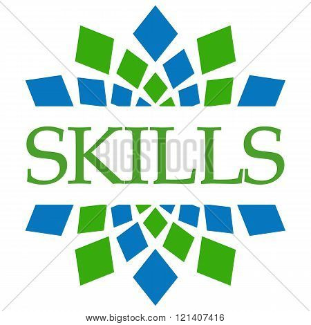 Skills Green Blue Elements Square