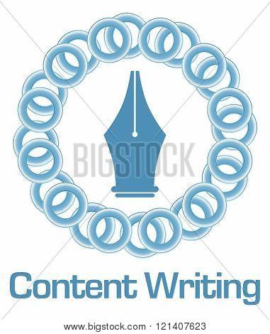 Content Writing Blue Rings Circular