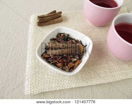 Fruit tea with licorice root