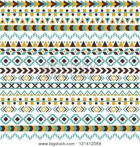 Vector Tribal Aztec Seamless Pattern