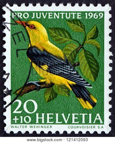 Postage Stamp Switzerland 1969 Golden Oriole, Passerine Bird
