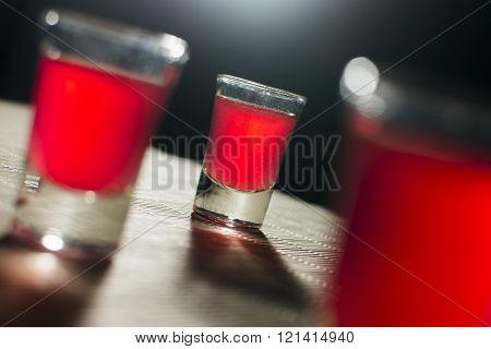 Alcoholic Glasses On Table