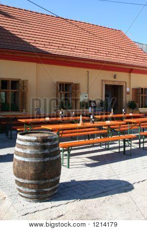 Wine Cellar And Barrel