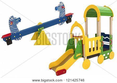 Elements of children's playground