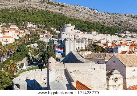 City Walls Of Dubrovnik, Croatia. Unesco Site
