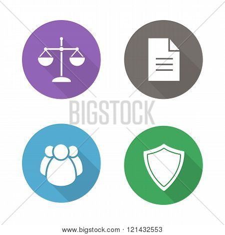 Lawyer flat design icons
