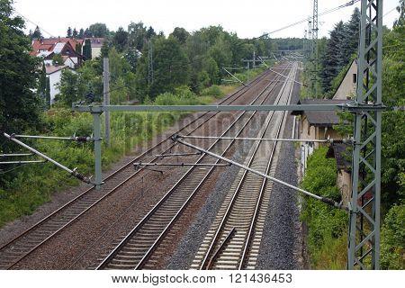 iron rusty train railway detail dark stones