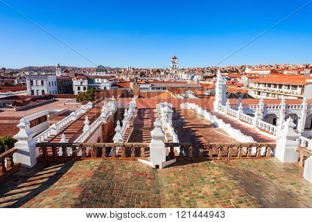 Sucre panoramic view from the Church of San Felipe Neri Bolivia poster