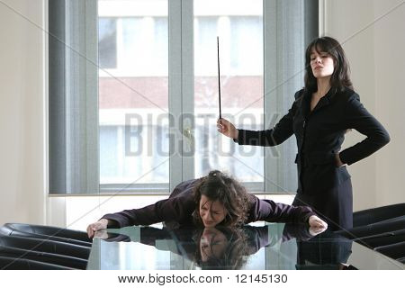 two woman in a office