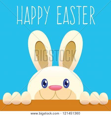 Easter Bunny Peeking From Below