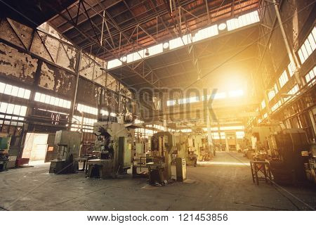 Interior of an old abandoned factory