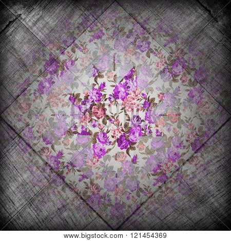 Grunge Flower Retro Background