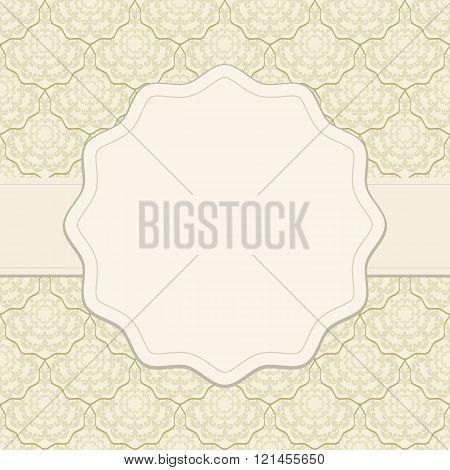 vintage background with decorative frame - vector illustration