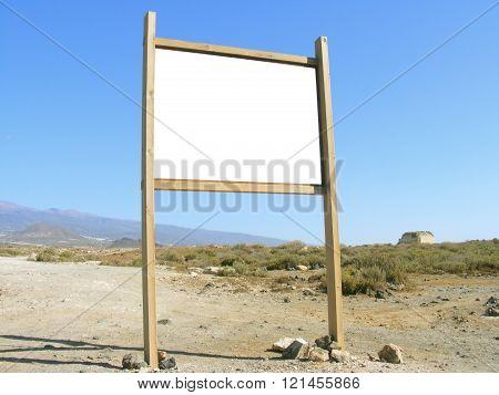 billboard in the countryside