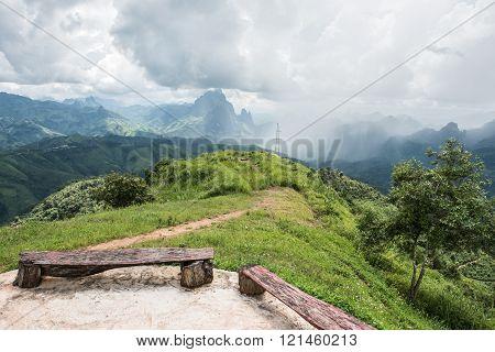 Glimpse Of Phoukhoun Mountain